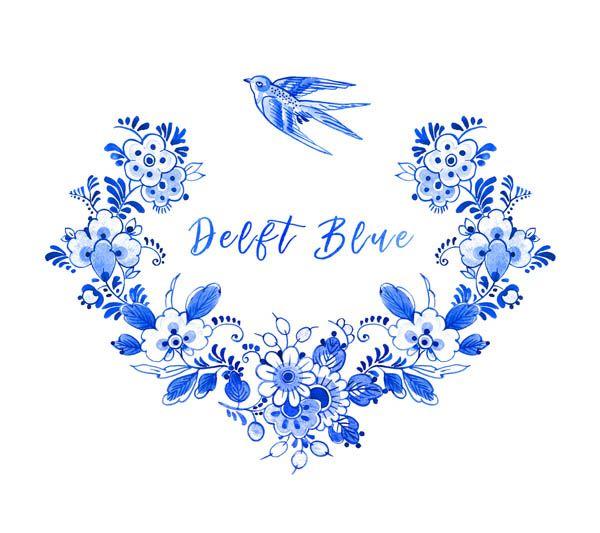 Cerámica azul de Delft Holanda