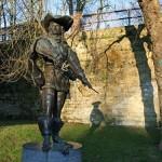 La estatua de D'Artagnan en Maastricht
