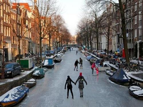 Patinar en Amsterdam