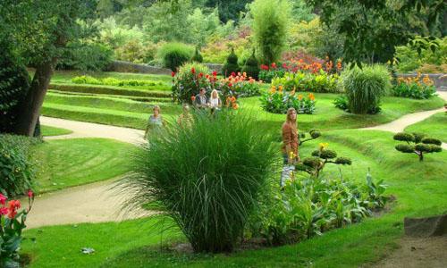 El castillo y los jardines en Arcen