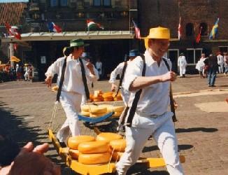 Mercado del queso, Alkmaar, Holanda