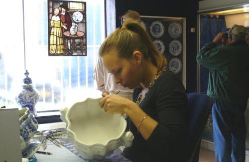 Ceramicas de Delft, fabrica, visita guiada