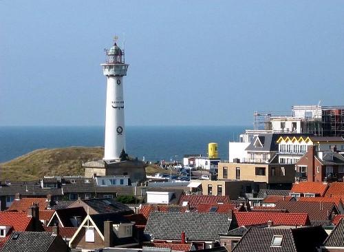 La playa Egmond aan Zee en Alkmaar