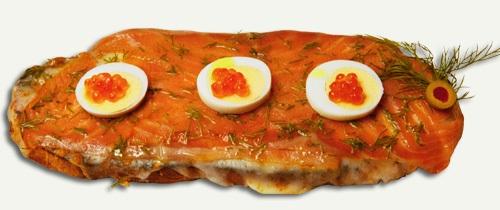 Tosta holandesa, con salmon ahumado
