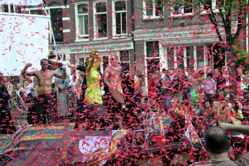 Desfile del Orgullo Gay en Ámsterdam