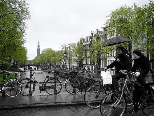 Lluvia en Amsterdam