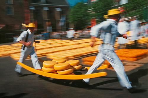 mercado del queso de Gouda