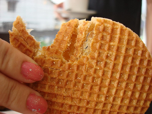 Stroopwafels con caramelo, waffles holandeses